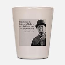 Churchill Anti-Socialism Quote Shot Glass