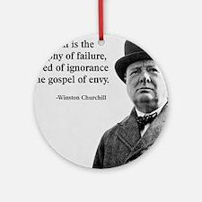Churchill Anti-Socialism Quote Round Ornament