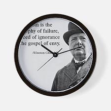 Churchill Anti-Socialism Quote Wall Clock