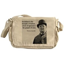 Churchill Anti-Socialism Quote Messenger Bag