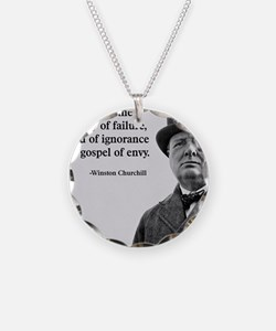 Churchill Anti-Socialism Quo Necklace Circle Charm