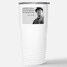 Churchill Anti-Socialism Quote Travel Mug