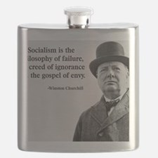 Churchill Anti-Socialism Quote Flask