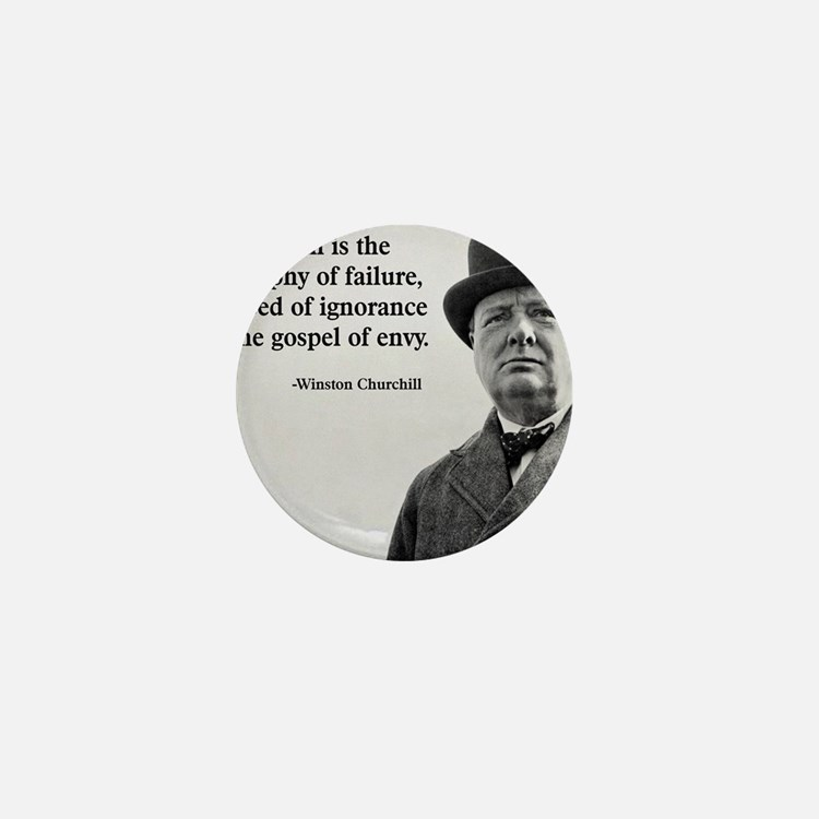 Churchill Anti-Socialism Quote Mini Button