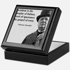Churchill Anti-Socialism Quote Keepsake Box