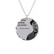 Churchill Quote Necklace Circle Charm