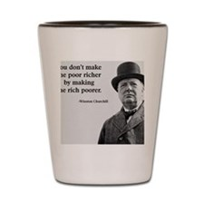 Churchill Quote Shot Glass
