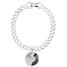 Churchill Quote Charm Bracelet, One Charm