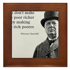 Churchill Quote Framed Tile