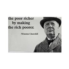 Churchill Quote Rectangle Magnet