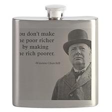 Churchill Quote Flask