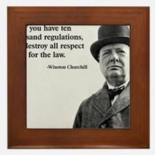 Winston Churchill Regulation Quote Framed Tile