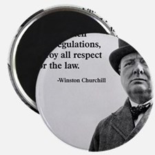 Winston Churchill Regulation Quote Magnet