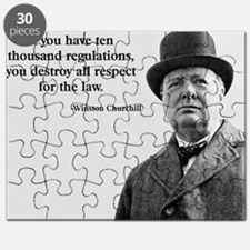 Winston Churchill Regulation Quote Puzzle