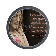 Jesus Christ The Way The Truth The Life Wall Clock