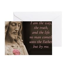 Jesus Christ The Way The Truth The L Greeting Card