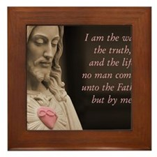 Jesus Christ The Way The Truth The Lif Framed Tile
