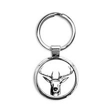 Deer Head Round Keychain