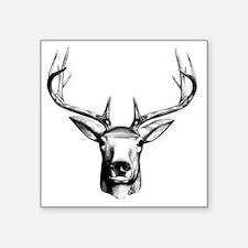 "Deer Head Square Sticker 3"" x 3"""