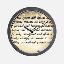 John F. Kennedy Taxes Quote Wall Clock