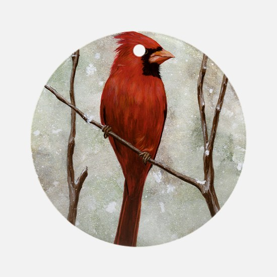 cardinal-full Round Ornament