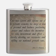 John F. Kennedy Taxes Quote Flask