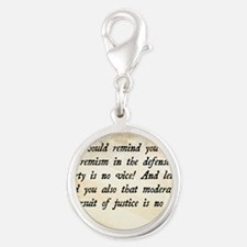 Barry Goldwater Quote Silver Round Charm