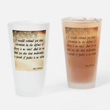Barry Goldwater Quote Drinking Glass