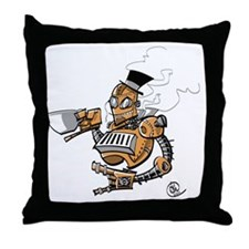 Large Steambot Throw Pillow