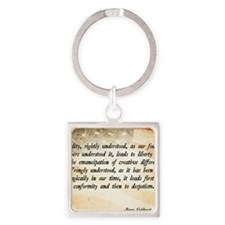 Goldwater Equality Quote Square Keychain