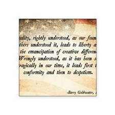 """Goldwater Equality Quote Square Sticker 3"""" x 3"""""""
