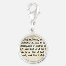 Goldwater Equality Quote Silver Round Charm