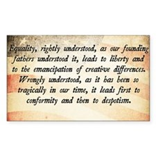 Goldwater Equality Quote Decal