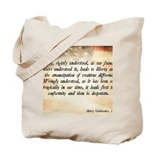 Goldwater Equality Quote Tote Bag