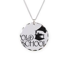 Old School Necklace Circle Charm