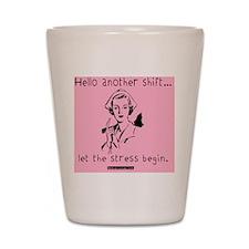 Hello Shift Pink Nurse Tote Bag Shot Glass