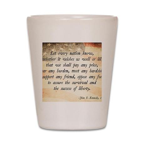 John F. Kennedy Quote Shot Glass