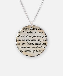 John F. Kennedy Quote Necklace