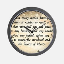 John F. Kennedy Quote Wall Clock