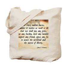 John F. Kennedy Quote Tote Bag