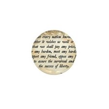 John F. Kennedy Quote Mini Button
