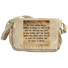 John F. Kennedy Quote Messenger Bag