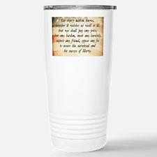 John F. Kennedy Quote Travel Mug