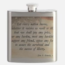 John F. Kennedy Quote Flask