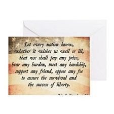 John F. Kennedy Quote Greeting Card