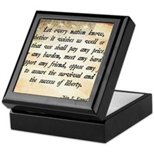 John F. Kennedy Quote Keepsake Box