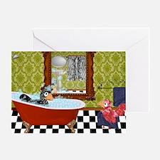 Patty  Egbert Take a Bath laptop ski Greeting Card
