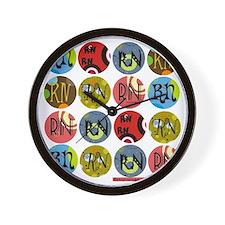RN Colorful Polkadot Tote Bag Wall Clock