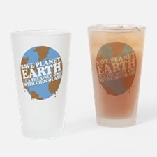save earth Drinking Glass