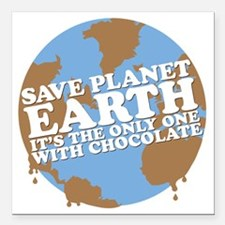 """save earth Square Car Magnet 3"""" x 3"""""""